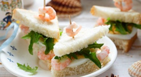 Сэндвичи с креветками
